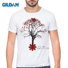 GILDAN new High Quality Printing Men T Shirt Red Hot Chili Peppers Tree Design T-Shirt Short Sleeve Modal Clothes Cool Tee Tops