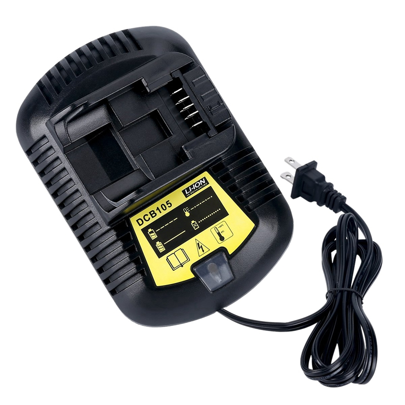 12V Max And 20V Max Li Ion Battery Charger 3A For Dewalt 10.8V 12V 14.4V 18V 20V DCB101 DCB115 DCB107 DCB105 Battery US Plug|Battery Accessories & Charger Accessories| |  - title=
