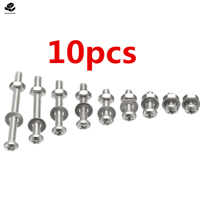 M3 Black Socket Cap Bolts Nuts Washers Round Head 300 Piece Assorted Kit