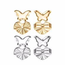 2f4f4b371 2/1Pair/Set Fashion Gold Silver Earrings Back Nut Lifters Lift Copper Lob  Support