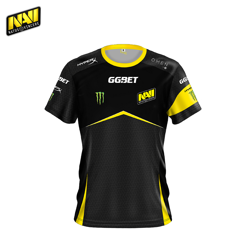 Фото - T-Shirts NATUS VINCERE FNVJERSCB18BK0000 mens shirt Clothing Tops Tees Jersey men Polyester NAVI CS:GO Dota 2 simple esports nuckily nj513 cycling polyester short sleeve riding jersey for men black white size l