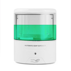 Image 2 - Battery Powered 600ml Wall Mount Automatic IR Sensor Soap Dispenser Touch free Kitchen Soap Lotion Pump for Kitchen Bathroom