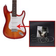 цена на E104 Electric Guitar String Phosphor Bronze Alloy Silver Wound Guitar Steel Set Strings