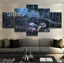 5 Panel Music Avenged Sevenfold Canvas Printed Painting For Living Room Wall Art Home Decor HD Picture Artworks Modern Poster цена и фото