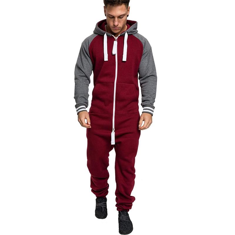e52f3364be 2019 nueva moda de invierno para hombre chándal trajes deportivos cálido  más terciopelo con capucha chaqueta pantalones niños hombre deportivo monos  ...