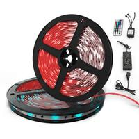 10M LED Lights Strip Set Epoxy Waterproof RGB Remote Control Lamp for Decorative Lighting with Power Supply