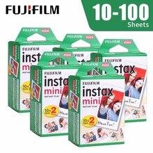 Fujifilm Instax Mini 9 فيلم حافة بيضاء 10 20 40 60 100 ورقة/حزم ورق طباعة الصور للكاميرا الفورية فوجي 8/7s/25/50/90/sp 1/sp 2