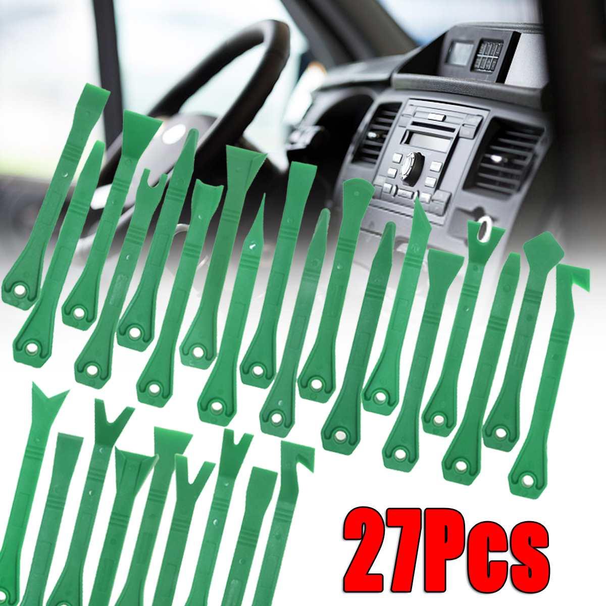 27 pièces voiture stéréo Radio Audio garniture enlèvement Pry panneau porte tableau de bord installer outils Kit 7 pouces pour tous les modèles en plastique outils à main ensembles