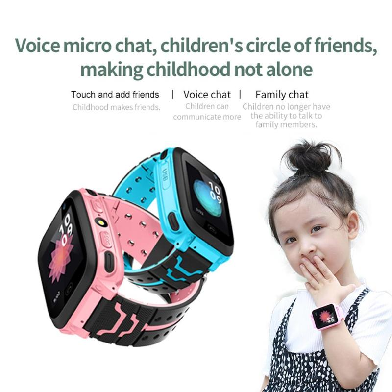 DS38 Children Smart Watch 1.44inch 0.3MP Touch Screen Children Smartwatch Phone IP67 Waterproof 2G SIM GPS Wristband for Kids orologio delle forze speciali