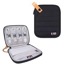 купить BUBM Travel Accessories Bag Electronics Organizer Cable Storage for Power Bank, USB, Flash, Hard Drive, Portable Case по цене 940.47 рублей