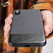 KISSCASE Case For Samsung Galaxy S10 S8 S9 Plus S10E Cloth Leather Phone S7 Edge j5 2017 J6 A7 A8 2018