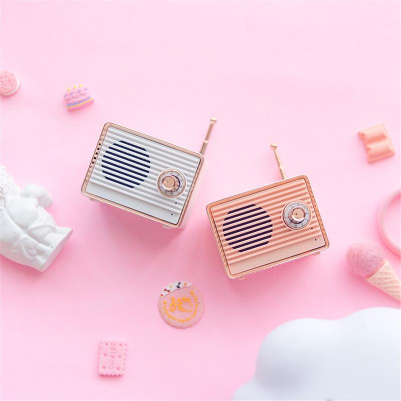 New Retro Bluetooth Speaker Vintage Mini Cute Bluetooth Speaker Nostalgic Heavy Bass 3D Stereo Surround HiFi Sound Effects