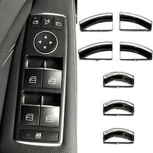 Дверной подъемник наклейки для кнопок ABS обрамление с хромированной отделкой автомобильные аксессуары для укладки для Mercedes Benz B CLA GLA класса W176 W246 C117