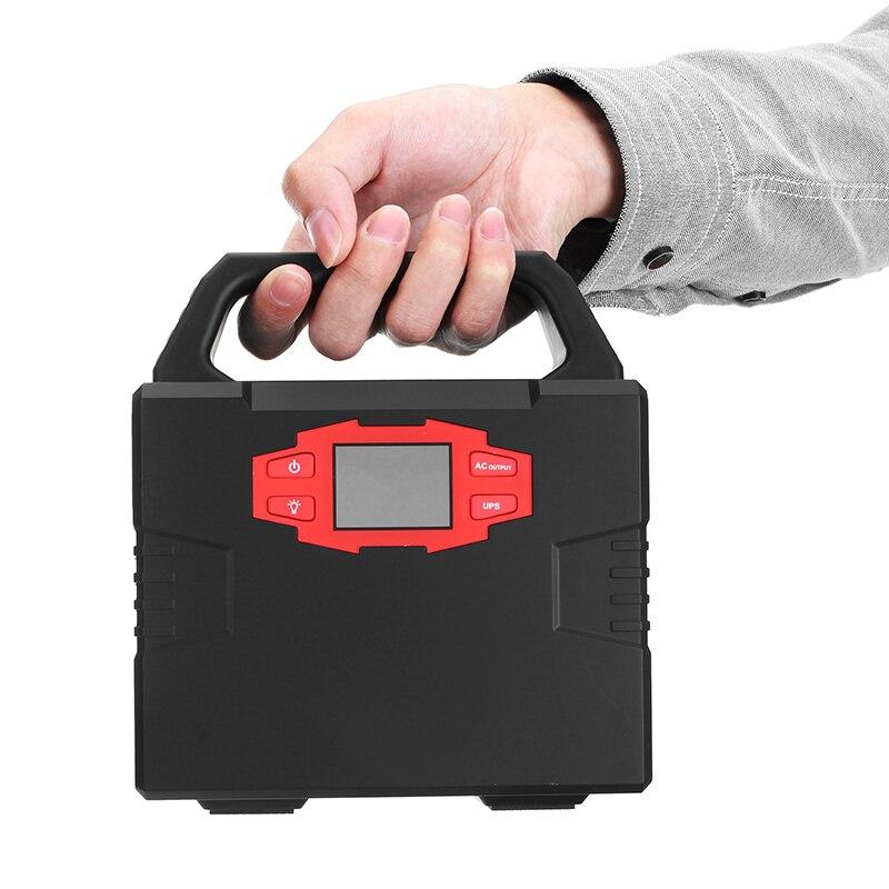 40800 mAh 110 V 150 W Au Lithium D'UPS D'urgence De Systèmes D'énergie Solaire À Onde Sinusoïdale Modifiée LED Affichage Portable Voiture chargeur portatif de secours