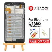 新オリジナル Elephone C1Max 1280 × 720 Lcd ディスプレイ + 6.0 インチのタッチスクリーン + フレームアセンブリ修理 elephone C1 最大