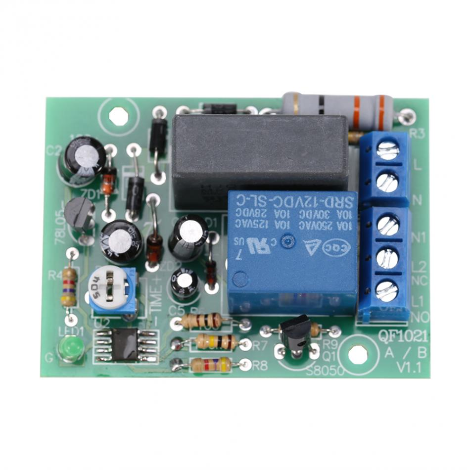 Adjustable Ac 220v Relay Module Switch Trigger Time Delay Circuit Timer Cycle Timing Turn Off