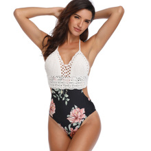 CHINGYUN Sexy One-Piece Swimwear European&American 2019  New Style Swimsuit Sell like Hot Cakes Panel Knitted