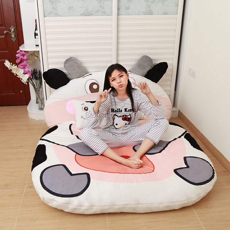 120x200cm Lovely cattle Sleeping Bag Sofa Bed Twin Bed Double Bed Mattress for Children Oversized Beanbag Tatami Sofa-in Bean Bag Sofas from Furniture on Aliexpress.com | Alibaba Group