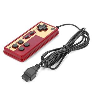 Image 2 - חם Wired 8 קצת טלוויזיה אדום ולבן מכונת משחק וידאו נגן ידית Gampad בקר עבור Coolboy עבור Subor עבור NES משחק משחק
