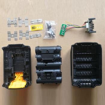 For Dewalt 20V Li-ion Battery Replacement Plastic Case Kit 3.0/4.0Ah DCB200 DCB180 DCB181 Li-ion Battery Shell (no battery cell) li ion 18v 20v 3 0ah replacement power tool battery for dewalt dcb182 dcb200 dcb204 dcb183
