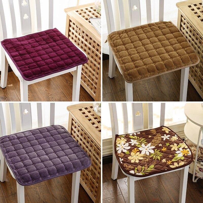 3d Lattice Pattern Flannel Square Seat Cushions Home Decor 40*40cm Kitchen Office Chair Cushion Car Seat Mat Coussin Almofadas