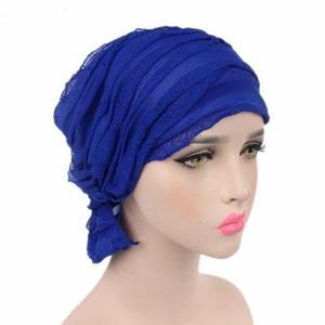 Image 3 - Muslim Cap Women Hat Hijab Ruffle Ladies Cancer Turban Chemo Cap Abaya Beanie Scarf Cap Head Wrap Hat Inner Cap Bonnet Fashion