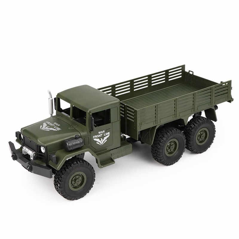 Jjr/C Brica Q63 1/16 2.4G 6WD Off-Road Truk Militer Crawler RC Mobil Motor Sikat Remote kontrol Mainan Hijau Kuning