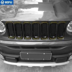 Image 2 - MOPAI Racing Grills für Jeep Renegade 2015 + Auto Kühlergrill Dekoration Abdeckung Aufkleber für Jeep Renegade Auto Zubehör Styling