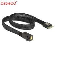 Cablecc 50cm Mini SAS38P SFF 8654 to SAS SFF 8643 Server HDD Data Transmission Cable