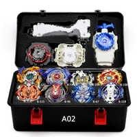 TAKARA TOMY combinación Beyblade conjunto de juguetes Beyblades Arena Bayblade Metal fusión 4D con lanzador Spinning Top Juguetes
