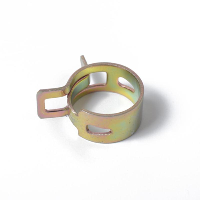 spring clips Clips 10 PCS 6mm Car Spring Clip Fuel Line Hose Clip Water Pipe Air Tube Clamp Fastener