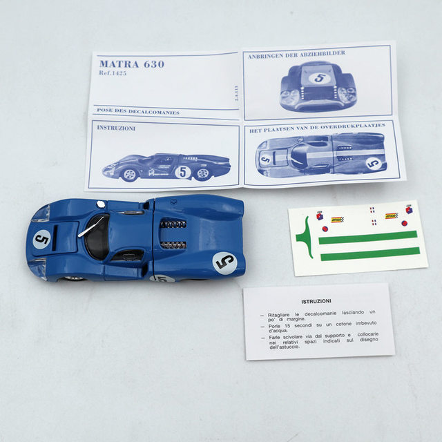 1:43 Atlas Dinky Toys 1425E Blue MATRA 630 ALLOY #5 Diecast Models Toys Car Limited Edition Collection