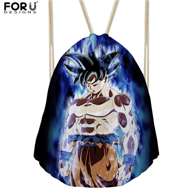 FORUDESIGNS HOT Anime Dragon Ball Z Super Drawstring Backpack for Children Boys Cool Saiyan Sun Goku Vegeta Printing School BagsFORUDESIGNS HOT Anime Dragon Ball Z Super Drawstring Backpack for Children Boys Cool Saiyan Sun Goku Vegeta Printing School Bags