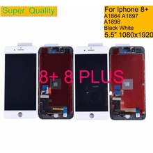10Pcs/lot For iphone 8 Plus Full LCD Display Touch Screen Digitizer Panel Pantalla monitor LCD Assembly Complete ORIGINAL Color недорго, оригинальная цена