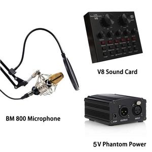 Image 5 - BM 800 Studio microfono a condensatore microfono Karaoke registrazione capacitiva professionale PC supporto per microfono portatile vocale per Computer