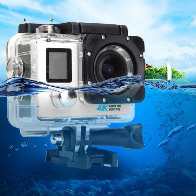 Водонепроницаемая Экшн-камера с двойным жк-экраном, видеокамера для улицы, Спортивная HD камера с Wi-Fi, видеокамера DV