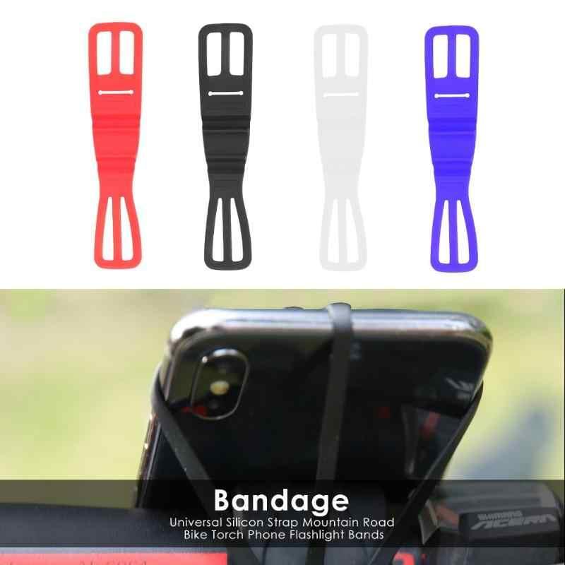 1 stücke Universal Silicon Strap Mountain Road Bike Torch Telefon Taschenlampe Bands für Elastische Bandage Fahrrad Licht Halterung Halter