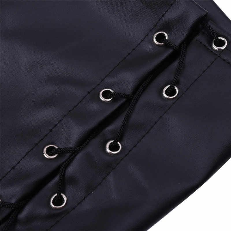 TiaoBug/женские черные лакированные кожаные короткие шорты со шнуровкой, женские вечерние шорты для ночного клуба, сексуальные шорты для танцев на шесте