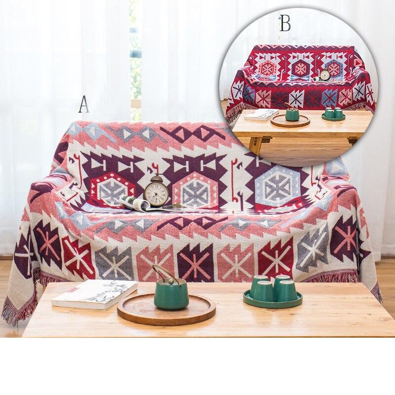 YRYIE Double face Jacquard canapé jeter couverture tricoté avec gland Style décontracté lit canapé couverture serviette couvertures ensemble de literie