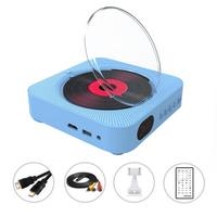 Wall mounted Bluetooth CD Player Speaker Repeat DVD Player Portable Home Audio Built in HiFi Speakers USB MP3 Speaker