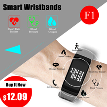цена F1 Smart Band watches Blood Pressure Fitness bracelet heart rate smartband Smart bracelet Healthy Activity Tracker wristband