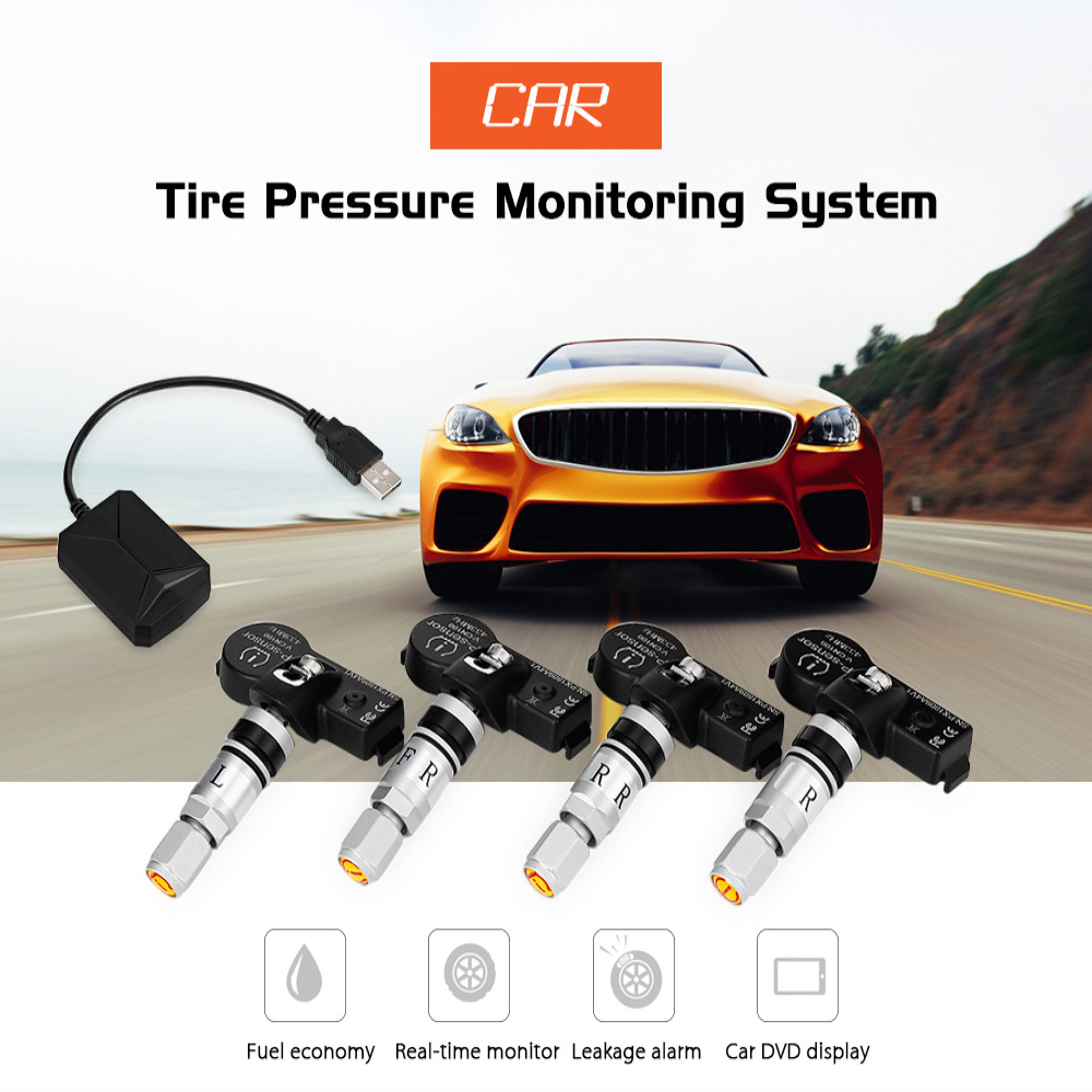 US $37 49  TY05 Car Tire Pressure Monitoring System for Android Navigation  4 External Sensors TPMS Receiver Alarm Systems-in Tire Pressure Alarm from