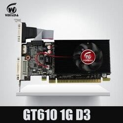 Placa gráfica de vídeo gt610 1 gb ddr3 do chipset de geforce do perfil baixo para o caso normal do pc e do lp mais forte do que hd6450