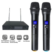 Wireless Microphone System Dual Cordless Handheld Microphone 2 Channel Professional Cordless Microphone Kit For Studio Karaoke