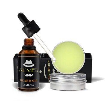 Beard Balm +Beard Oil Aftershave for Men Beards Care Tools Men's Beard Repair Deep Moisturizing Nourishing Growth Cream TSLM2 1