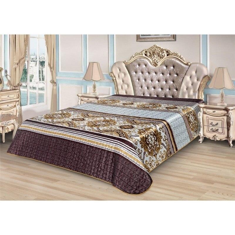 Bedspread Ethel Silk Corselet, size 150*220 cm, faux Silk 100% N/E flounce sleeve faux pearl beading lace top