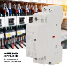 цена на 2P 25A 24V 1NO 1NC 50/60Hz Din Rail Household AC Contactor High Quality