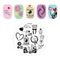 Kimcci 1pc New Year Image Nail Art Stamping Plate Fashion Plastic Stencil DIY 3D Templates Polish Beauty Manicure Makeup Tools