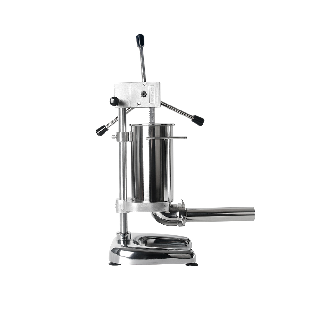 2L Manual Sausage Stuffer Stainless Steel Sausage Maker Meat Filling Machine With 4 Funnels Sausage Filler Kitchen Meat Tools in Stuffers from Home Garden