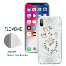 FLOVEME Flower Marble Case for Huawei P20 Lite P10 P9 Lite P10 Plus Floral Soft Silicon Case for Huawei Honor 9 8 Lite Cover(China)